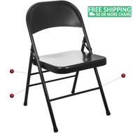 Advantage Black Metal Folding Chair [EDPI903M-BLK]