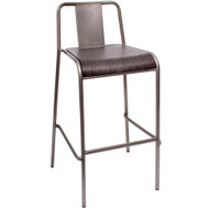 BFM Seating Tara W Industrial Bar Stool