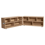 Wood Designs Maple Folding Classroom Storage Unit [12520-WDD]