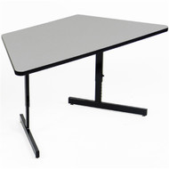 Correll 5 ft. Trapezoid Computer Table - Adjustable Height High Pressure Laminate Top [CSA3060TR]