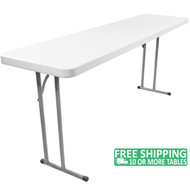Advantage 6 ft. Pedestal Leg Folding Training Table [ADV1872]