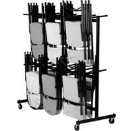 Correll Double Tier Folding Chair Cart [C84]