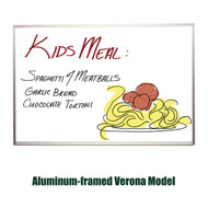 Ghent 4'x4' Verona Aluminum Frame Melamine Whiteboard [M2-44-4]