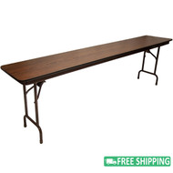 5-pack Advantage 8 ft. High Pressure Laminate Folding Banquet Table [MEW-1896-WB-05]