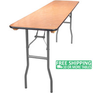 Advantage 6 ft. Wood Folding Banquet Table - 18x72 [FTPW-1872]