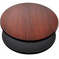 "Advantage 36"" Round Restaurant Table Top - Black / Mahogany Reversible [CT36RND-BMBLK]"