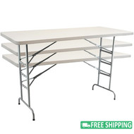 5-pack Advantage 6 ft. Plastic Folding Tables [ADV3072-ADJ-05]