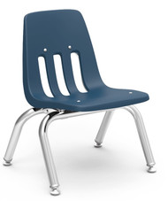 Virco 9000 Series Classroom Stack Chair with 10''H Seat and Chrome Frame [9010] - 4 Pack