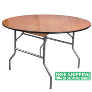 Advantage 4 ft. Round Wood Folding Banquet Table [FTPW-48R]