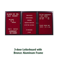 Ghent 48x72-inch Enclosed Burgundy Letter Board - Bronze Aluminum Frame [PB34872B-BG]