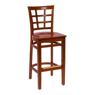 BFM Seating Pennington Cherry Window Pane Restaurant Bar Stool [WB629CH-BFMS]
