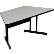 Correll 5 ft. Trapezoid Computer Table - Keyboard Height High Pressure Laminate Top [CS3060TR]