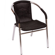 BFM Seating Madrid Aluminum Outdoor Restaurant Arm Chair [PH21C]