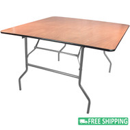 5-pack Advantage 4 ft. Square Wood Folding Banquet Tables [FTPW-4848-05]