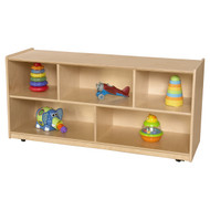 "Wood Designs Mobile Single Classroom Storage Unit - 23.5""H [12400-WDD]"
