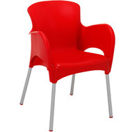 BFM Seating Lola Plastic Outdoor Restaurant Arm Chair [SA214]
