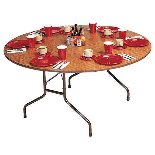 Correll CF48P 4 Ft Round Folding Banquet Table