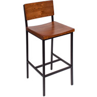 BFM Seating Memphis Industrial Bar Stool [JS33BASH-SB]