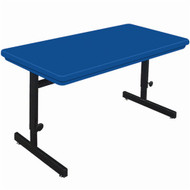 Correll 4 ft. Computer Table - Adjustable Height Blow-Molded Top [RCSA2448]
