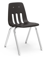 Virco 9000 Series Classroom Stack Chair with 18''H Seat and Chrome Frame [9018] - 4 Pack