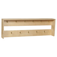 Wood Designs Wall Mounted Coat Rack with 11 Hooks [51600-WDD]