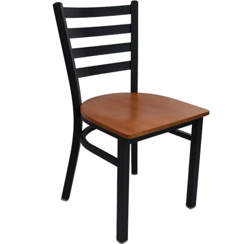 Advantage Black Metal Ladder Back Restaurant Chair Rclb Bfcw