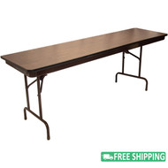 5-pack Advantage 8 ft. High Pressure Laminate Folding Banquet Table [MEW-3096-WB-05]