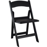 Advantage Black Resin Folding Chairs [LE-L-1-BLACK-GG]