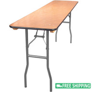 15-pack Advantage 6 ft. Wood Folding Banquet Tables [FTPW-1872-15]