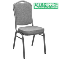 Advantage Charcoal Grey Crown Back Banquet Chair [CBBC-109]