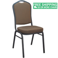 Advantage Brown Pattern Crown Back Banquet Chair [CBBCSE-08]