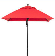 BFM Seating 6.5 ft. Square Aluminum Market Umbrella - Fiberglass Frame [U6.5F]