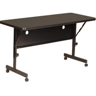Correll 6 ft. High Pressure Laminate Deluxe Flip Top Table [FT2472]
