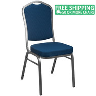 Advantage Navy Patterned Crown Back Banquet Chair [CBBC-101]