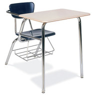 Virco Martest 21 Chair Desk (4-Leg) [3400BRM] - 2 Pack