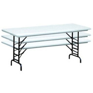 Correll RA3096 8 ft. Correll Adjustable Height Folding Tables