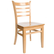 BFM Seating Burlington Natural Wood Ladder Back Restaurant Chair [WC101NTNTW]