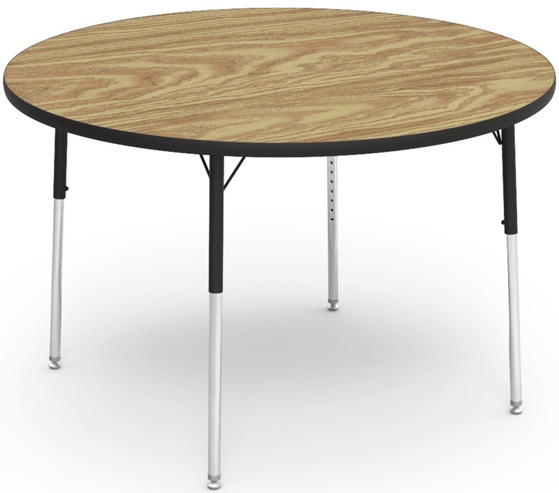 Adjustable Height Round Table.Virco Quick Ship 4000 Series Adjustable Height Round Activity Table With Laminate Top And Char Black Frame 48 Diameter X 22 H 30 H 4848r