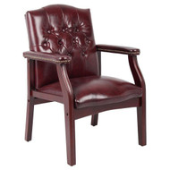 Boss Traditional Side Chair - Mahogany Finish [B959]
