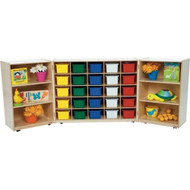Wood Designs 3-Section Tri-fold Cubby Storage Unit [WD25509]