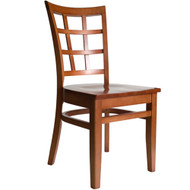 BFM Seating Pennington Cherry Window Pane Restaurant Chair [WC629CH-BFMS]