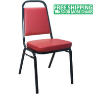 Advantage Burgundy Vinyl-Padded Banquet Stackable Chairs [627VINYL-BBURG-SB]