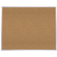 Ghent 4'x6' Natural Cork Bulletin Board - Aluminum Frame [AK46]