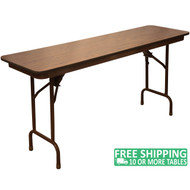 Advantage 6 ft. High Pressure Laminate Folding Banquet Table - 18x72 [MEW-1872-WB]