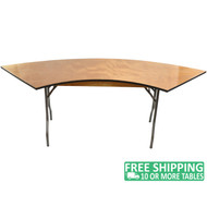 Advantage 6 ft. Serpentine Wood Folding Table [FTPW-SERP]