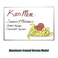 Ghent 4'x8' Verona Aluminum Frame Melamine Whiteboard [M2-48-4]