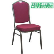 Advantage Burgundy Crown Back Banquet Chair [CBBC-105]