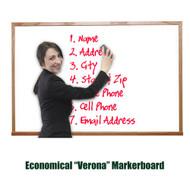 Ghent 4'x8' Verona Hardwood Frame Melamine Whiteboard [M2W-48-4]