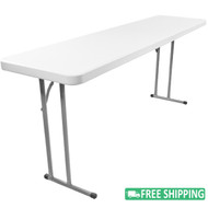 10-pack Advantage 5 ft. Pedestal Leg Folding Training Tables [ADV1860-10]