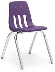 Virco 9000 Series Classroom Stack Chair with 16''H Seat and Chrome Frame [9016] - 4 Pack